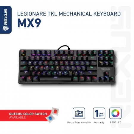 keyboard gaming tkl mx9 rexus